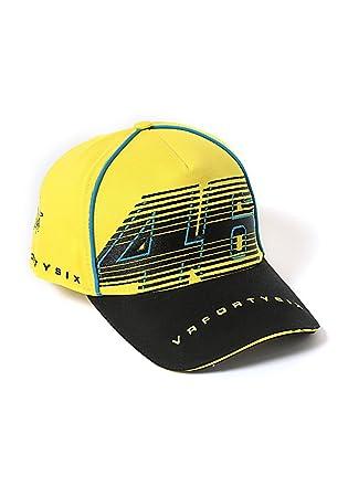 Yamaha Valentino Rossi VR46 gorra de béisbol amarillo   amp  Negro 46big  Logo vrfortysix fed41d63850