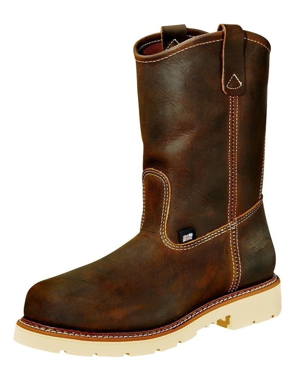 """Amazon.com: Men's Work One 8"""" Steel Toe Sport Boots S080, BLK ..."""