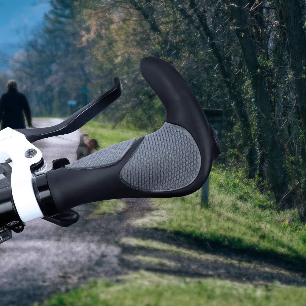 Fahrrad Lenkergriffe Schraub-Griff Ergonomisch Gummi Ergogriffe Ergo Bar Grips