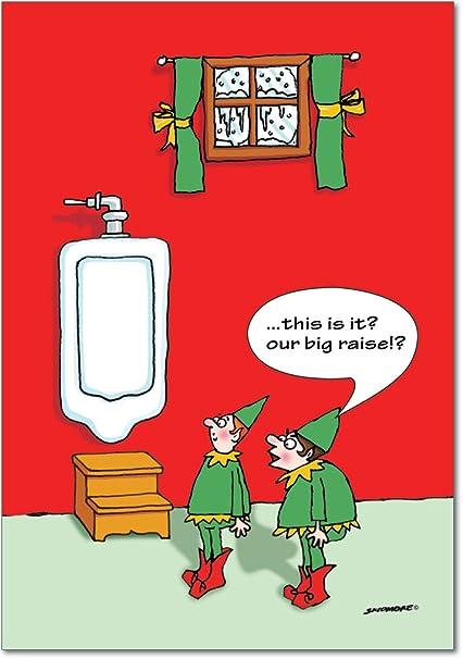 Amazon b1866 box set of 12 big raise urinal naughty humor b1866 box set of 12 big raise urinal naughty humor christmas greeting cards with envelopes m4hsunfo