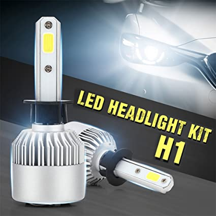 Auto Car Headlight - Pack of 2 COB LED, 40W 10000LM All In One Car