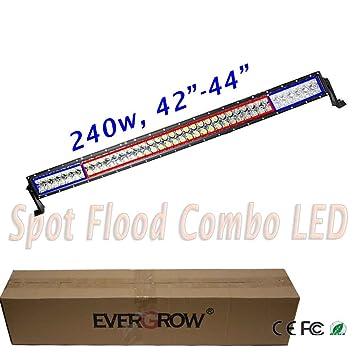 EVERGROW® 42 240w LED Off Road Light Bar Spot Flood Beam Work Light 4wd Boat Pickup Truck Модель - фото 8
