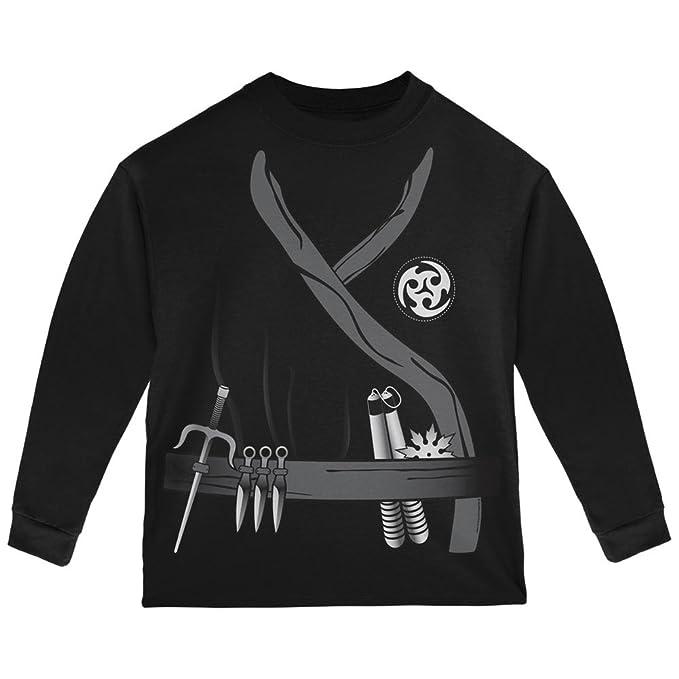 Halloween Ninja Assassin Costume Black Toddler Long Sleeve T-Shirt