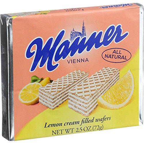 - Manner Lemon Cream Filled Wafers 2.54 oz (Pack of 12)