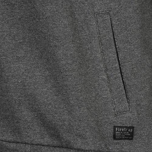 Firetrap antracite Twin con cappuccio e cerniera intera, con cappuccio felpa giacca
