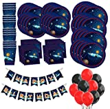 Space Solar System Birthday Party Supplies MEGA Set Plates Napkins Cups Tableware Balloons Banner Kit for 16