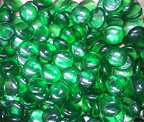Miracolors - 1 Lb - Green Glass Gems - Vase Fillers (17-19mm, Approx. 3/4