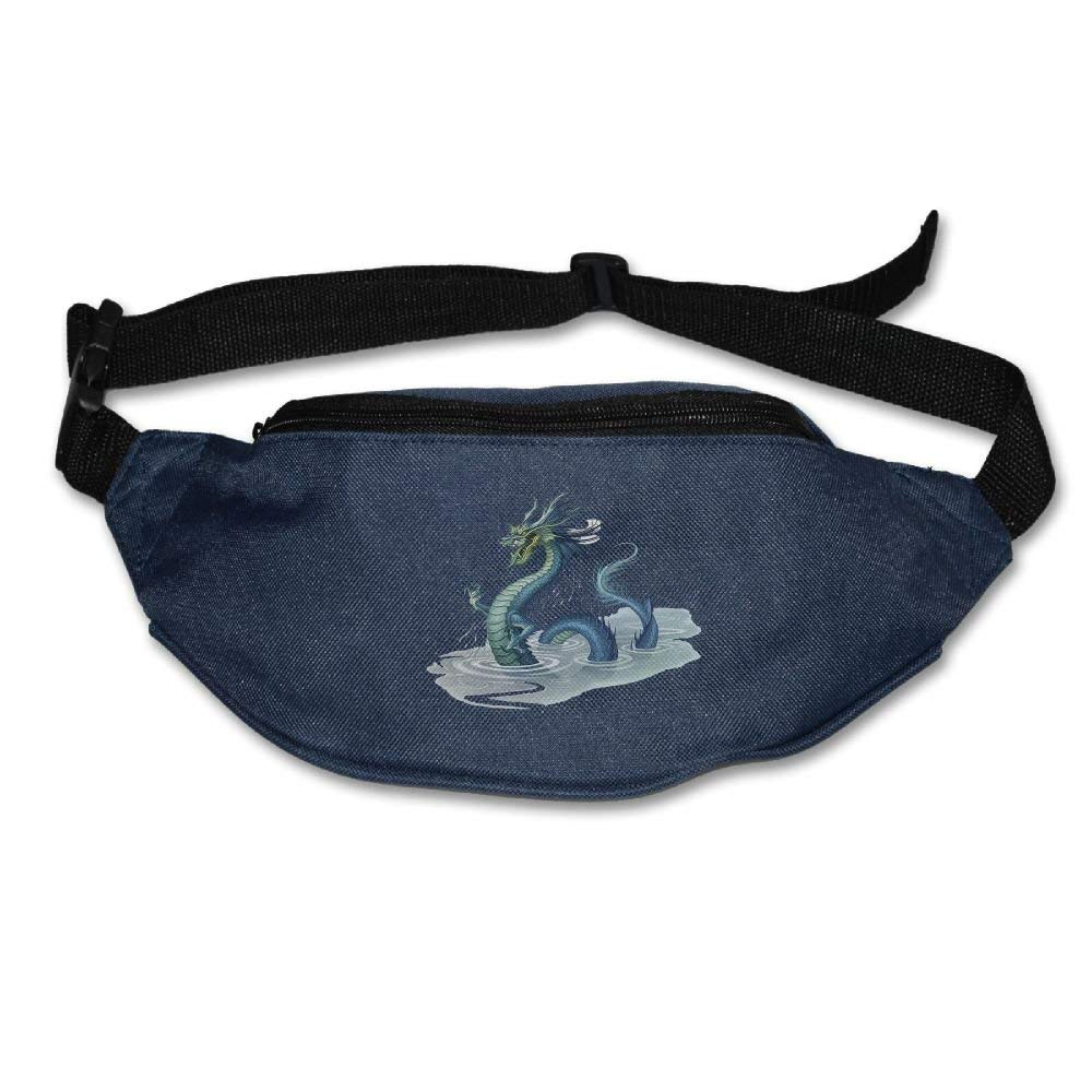 Waist Purse Chinese Dragon in The Water Unisex Outdoor Sports Pouch Fitness Runners Waist Bags