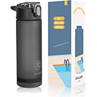 Diller Water Bottle with Straw (750 ML) Large Capacity, US Tritan Plastic BPA free with Flip-Flop Lid, Leak proof…