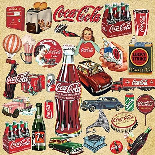 ZHANG Europa Y Los Estados Unidos Retro Coca-Cola Pegatinas Maleta Maleta Trolley Estuche Impermeable Patadas Pegatinas Computadora Guitarra Nostálgico Pegatinas 29: Amazon.es: Coche y moto
