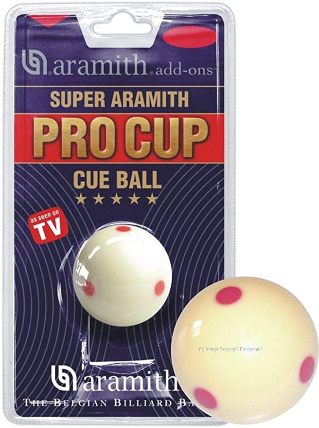 Aramith 2 Spots /& Stripes Poll Balls With 1 7//8 Spotted White by Camelot Q Sports