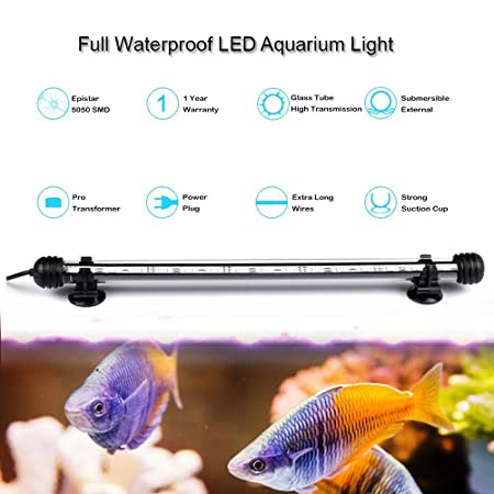 DOCEAN 108cm RGB Luz LED Acuario, Pantalla LED Acuario, 5050SMD 63LEDs Iluminacion LED para Acuarios Plantados Lampara LED para Peceras: Amazon.es: ...