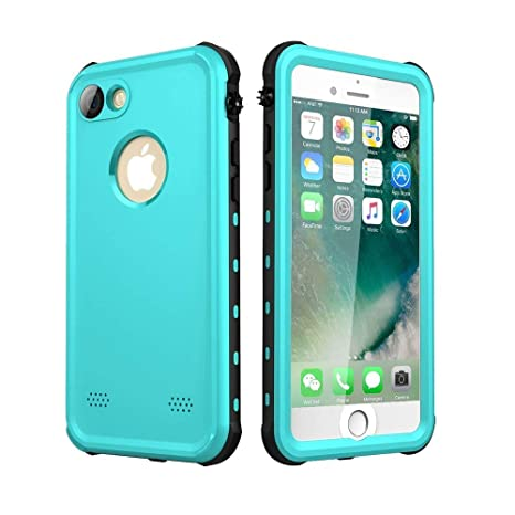 ChuWill Funda Impermeable iPhone 7, Carcasa iPhone 8, Certificado IP68 Antigolpes Sumergible Protección 360º Funda para iPhone 7/8 (4.7 Inch) - Azul