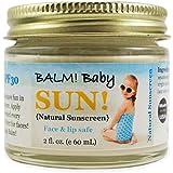 BALM! Baby All Natural Sunscreen SPF 30 - Made in USA! (2 Ounce - Glass Jar)