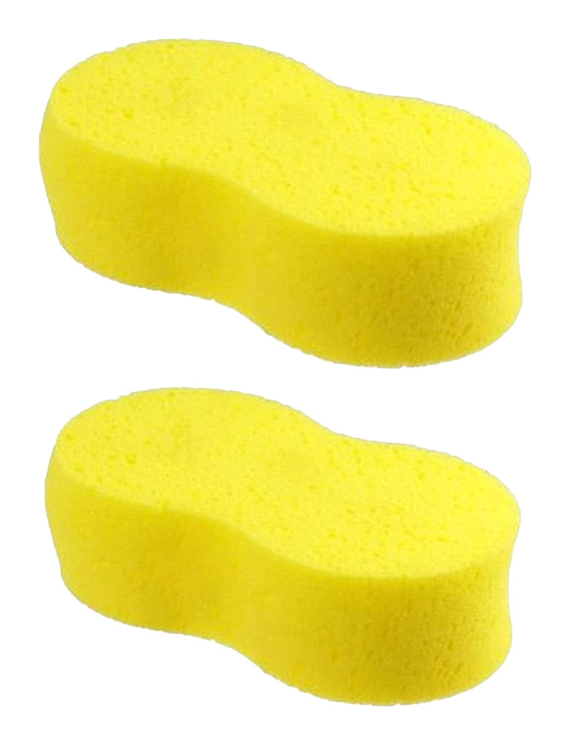 ALAZCO 2 Super-Absorbent Sponge - Jumbo 9' x 5' - Holds 34 oz of Liquid - Car Wash, Cleaning, Spill Mop-up 2pckjumboufosponge