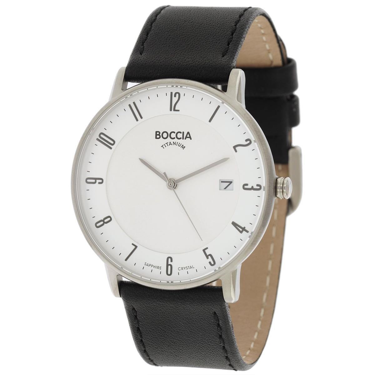 Boccia Reloj Digital para Hombre de Cuarzo con Correa en Cuero 3607-02