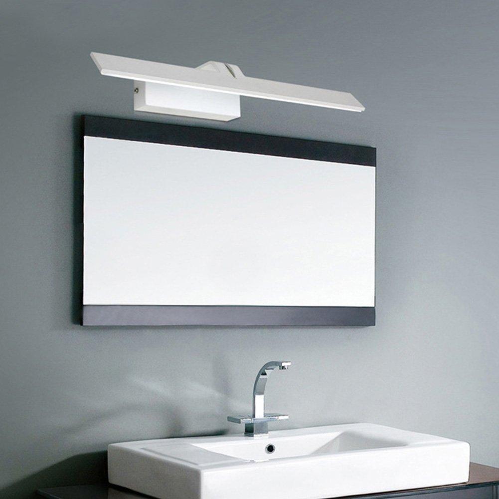 K-Bright Spiegelleuchte Badlampe,18W,61CM Spiegelschrank Leuchte,IP44, neutralweiß 4000K Wandleuchte/Schminklicht für Badezimmer,230V Badleuchte,Schrankleuchte,Aluminum,Weiß [Energieklasse A+] Weiß