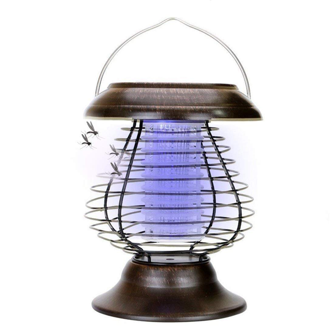 A-SZCXTOP Solar Mosquito Killer Lamp Indoor & Outdoor Insect Killer Waterproof Bug Zapper Light for Garden Decoration Camping Fishing UKPPLBDH953