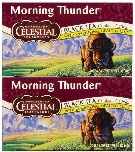 - Celestial Seasonings Morning Thunder Tea Bags - 20 ct - 2 Pack
