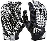 adidas Youth AdiFast 2.0 Receiver's Gloves, White/Black, Medium