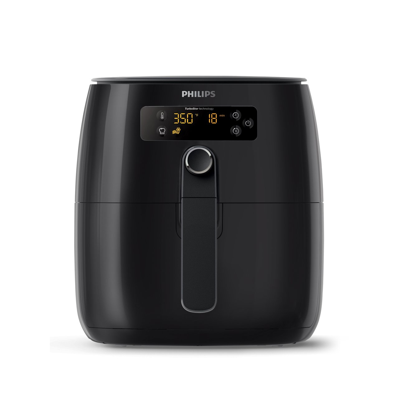 Philips HD9641/96 Avance Digital Turbostar Airfryer (1.8lb/2.75qt), Black