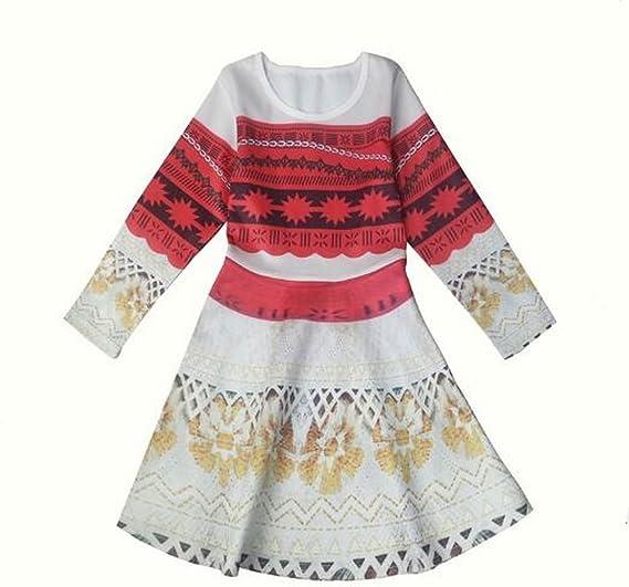 Disfraz de princesa Moana de manga larga para niñas y niños ...