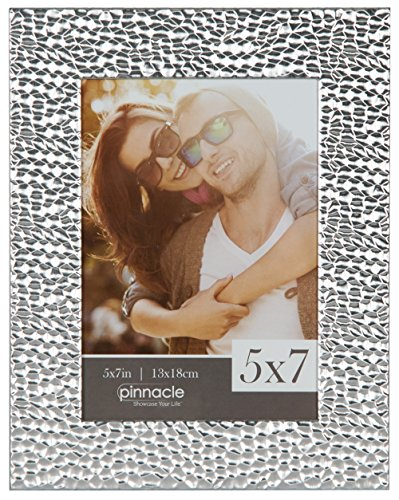Pinnacle Frames and Accents 5X7 Hammered Frame, Silver -