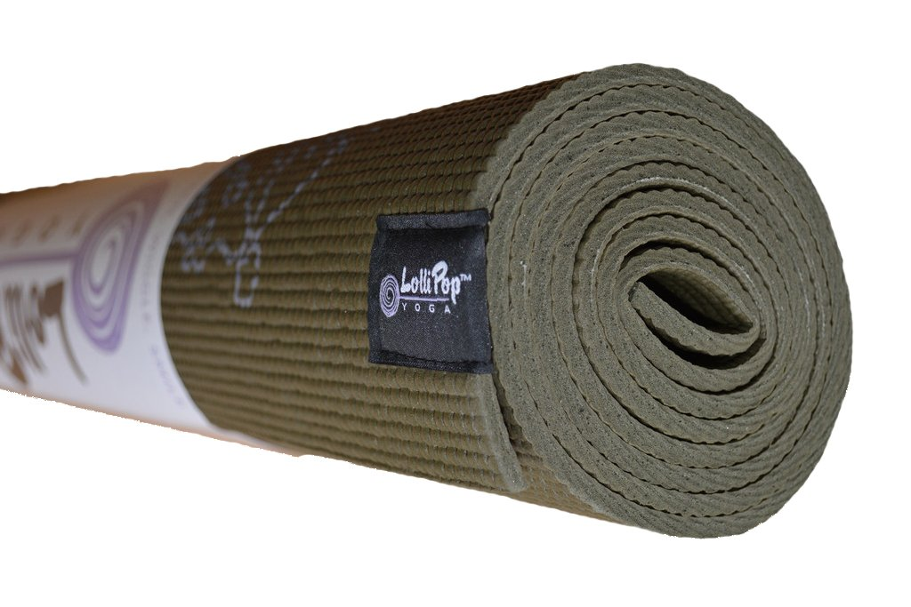 Bean Yoga Adult Leaf Mat - Camo Green