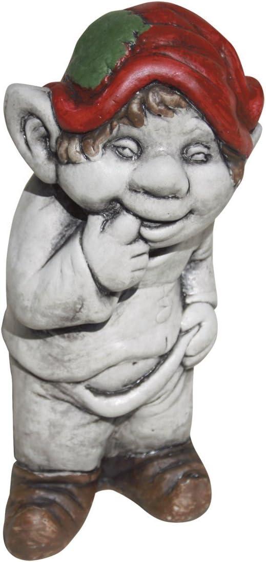 AnaParra Figura Decorativa Duende 23cm. de hormigón-Piedra para jardín Color: Amazon.es: Jardín
