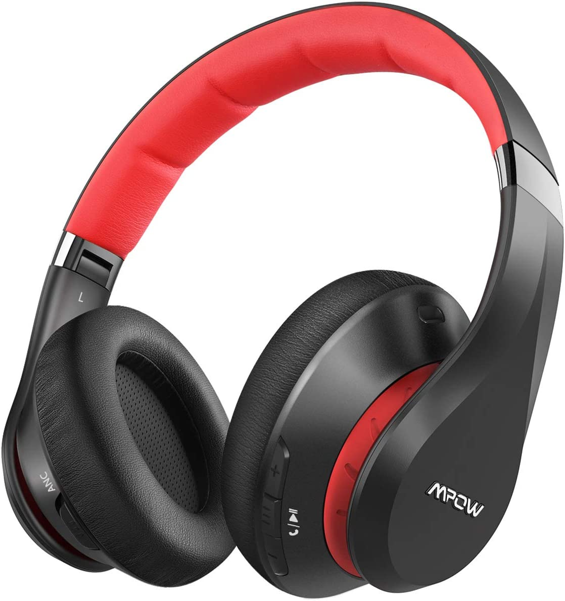 Mpow 059 Plus Active Noise Cancelling Headphones, Bluetooth Headphones Over Ear with 50 Hours Playtime, CVC 8.0 Noise-Cancelling Mic, Soft Memory Foam Ear Pads, Hi-fi Deep Bass