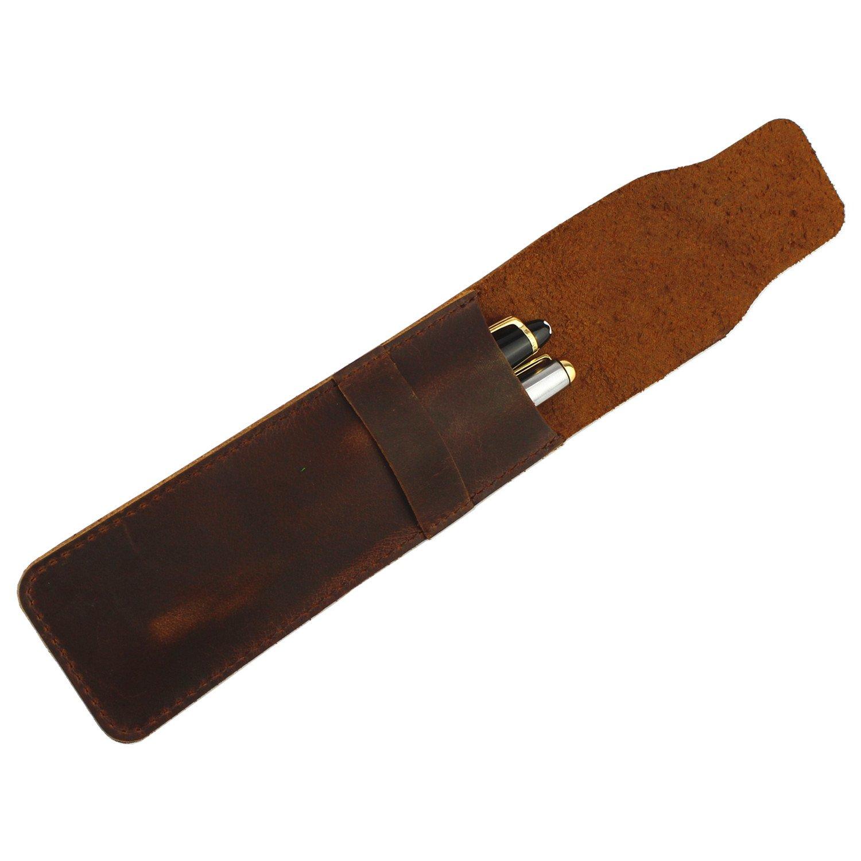 LXFF Schutzhülle für 2 Stifte, echtes echtes echtes Leder, handgefertigt, Vintage-Design braun B07B6BBTT5     | Spielzeugwelt, glücklich und grenzenlos  3225b7