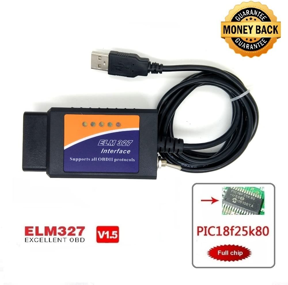 OTKEFDI ELM327,ELM-327 Forscan ELM 327-HS-CAN y MS-Can Modificado ELM327 OBD Compatible con Forscan Focccus ELMconfig FF2 Software para Focus Mondeo Kuga Edge Exploror F50 Taurus Everest Escort