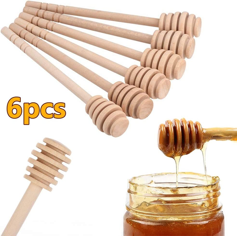 Honey Dipper Stick Long Handle Slime Stir Bar Honey Stir Bar Accessories Kids Toy Wooden Honey Spoon Coffee Stirrer Bar
