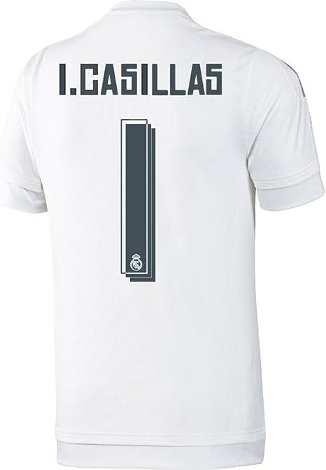 Adidas Casillas #1 Real Madrid Camiseta 1ra Fútbol De Manga ...