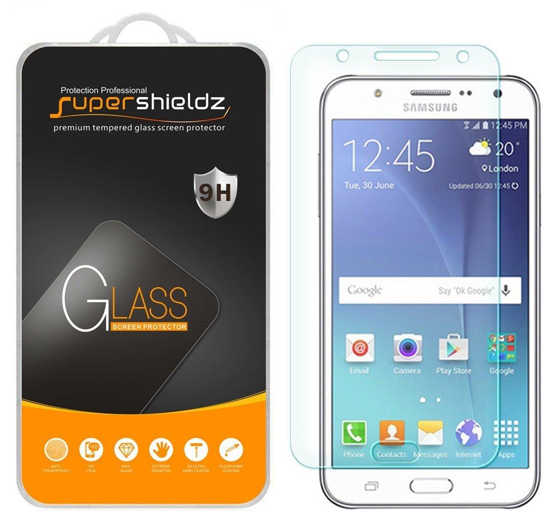 Supershieldz for Samsung Galaxy J7 (T-Mobile, Boost Mobile & Virgin Mobile)  Tempered Glass Screen Protector, Anti-Scratch, Anti-Fingerprint, Bubble