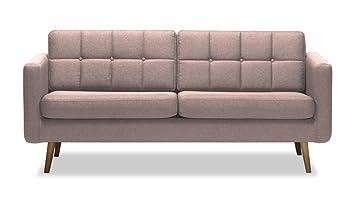 Sofa 3sitzer Brest, Skandinavischer Stil (Pastellrosa   Malmo 61)