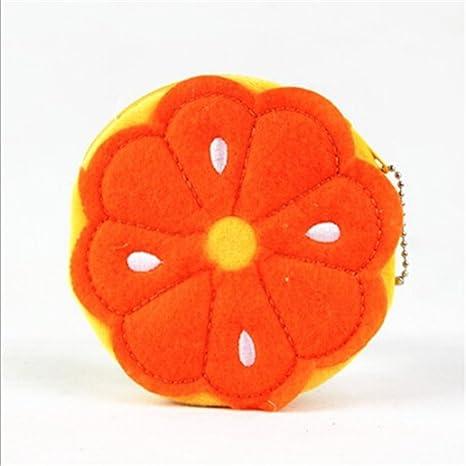 SUNSKYOO - Monedero de Peluche con diseño de Frutas, Naranja ...