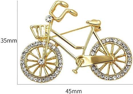 HUNANANA Marca Crystal Rhinestones Broches De Bicicleta para ...