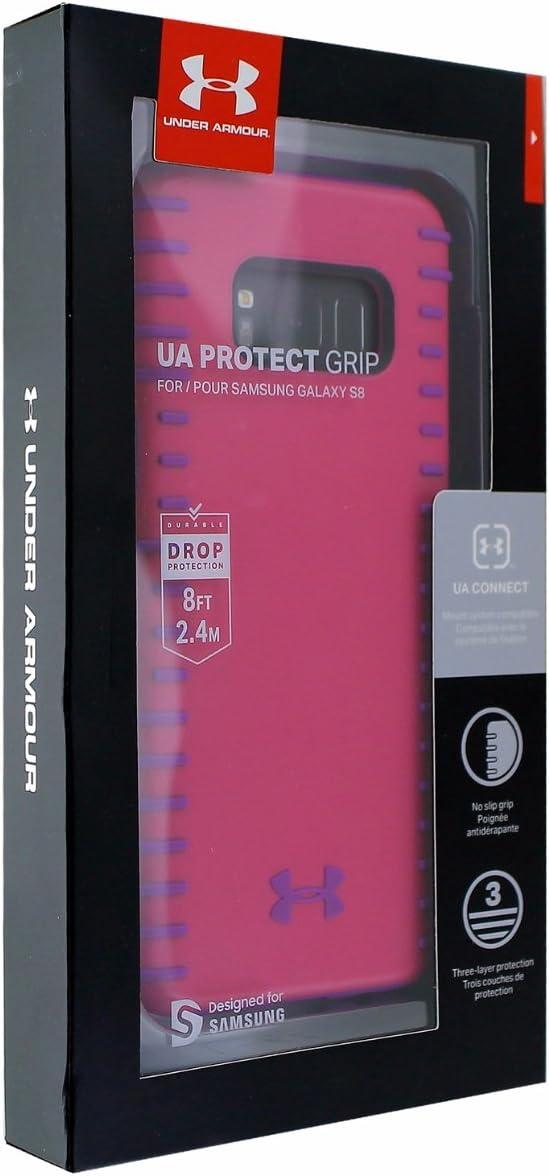 Pink//Purple Under Armour Grip Series Hybrid Case for Samsung Galaxy S8