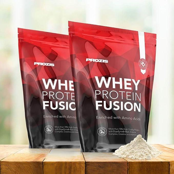 Prozis Whey Protein Fusion, Sabor Chocolate - 900 gr: Amazon ...