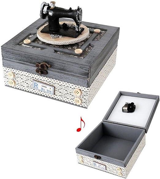 Costurero Maquina de coser madera rustica color gris caja costura manualidades: Amazon.es: Hogar