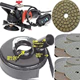 Wet Variable Speed Polisher Dustless Technologies 4'' Polishing Pad Damo Final Buff Granite Marble Concrete Travertine Glass Ceramics Lapidary Tille Floor Countertop Car Boat grinder