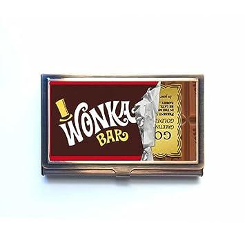 Willy Wonka Golden Ticket Chocolate Bar Custom Unique Bronze