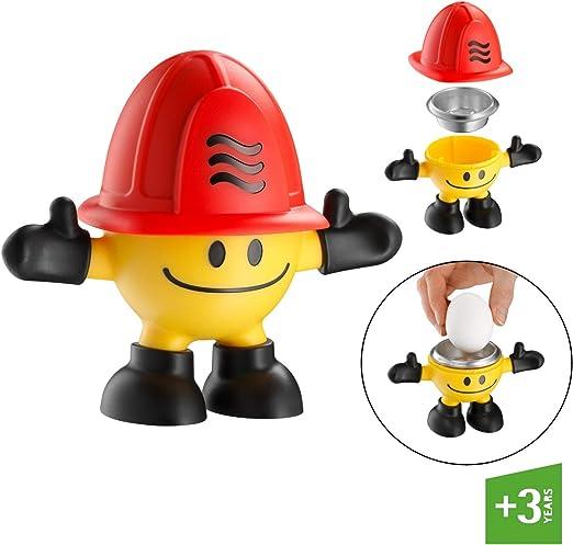 WMF McMicro Cocedor Huevo de microondas, Rojo y Amarillo: Amazon.es