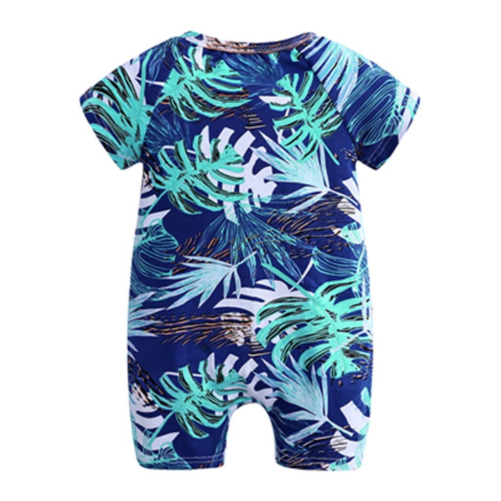 7,6M Official Store Newborn Fashion boy and Girl Bodysuit Jumpsuit Printed Short-Sleeved Jumpsuit Baby