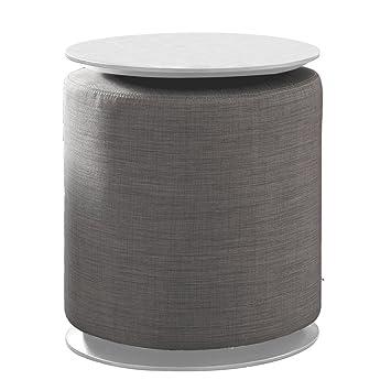 tuoni claps tavolino/pouf, legno multistrato/tessuto, grigio ... - Tavolino Laccato Company