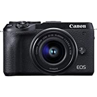 Canon M6IIKIS Digital Camera - Mirrorless Canon EOS M6 MKII Camera with EFM 15-45mm f/3.5-6.3mm IS STM Lens , Black…