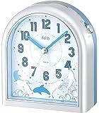 Felio(フェリオ) 目覚まし時計 ドルフ アナログ表示 ブルー×ホワイト FEA150WH-Z
