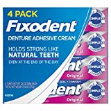 Fixodent Complete Original Denture Adhesive Cream, 4 pk./2.4 oz. (pack of 6)