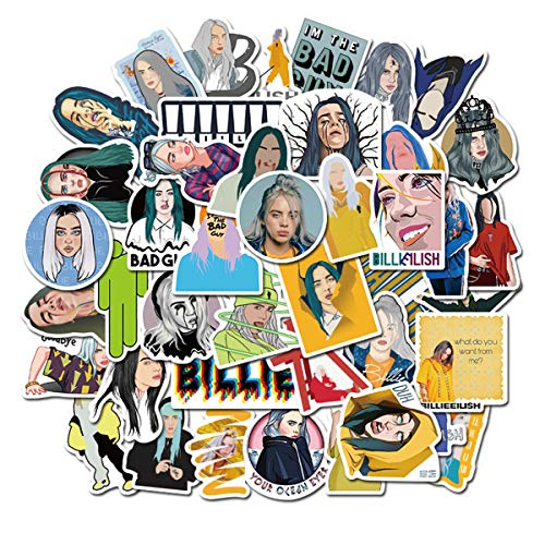 🥇 Singer Billie Eilish Stickers 50PCS for Laptop and Water Bottles